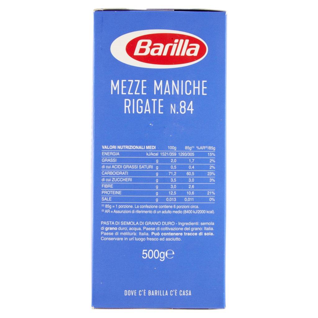 Barilla Mezze Maniche Rigate N.84 Confezione 500 G 3