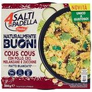 4 Salti in Padella Findus Naturalmente Buoni Cous Cous con Pollo, Ceci, Melanzane e Zucchine