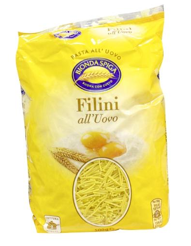 Pasta Secca Uovo Filini Bionda Spiga 500 g