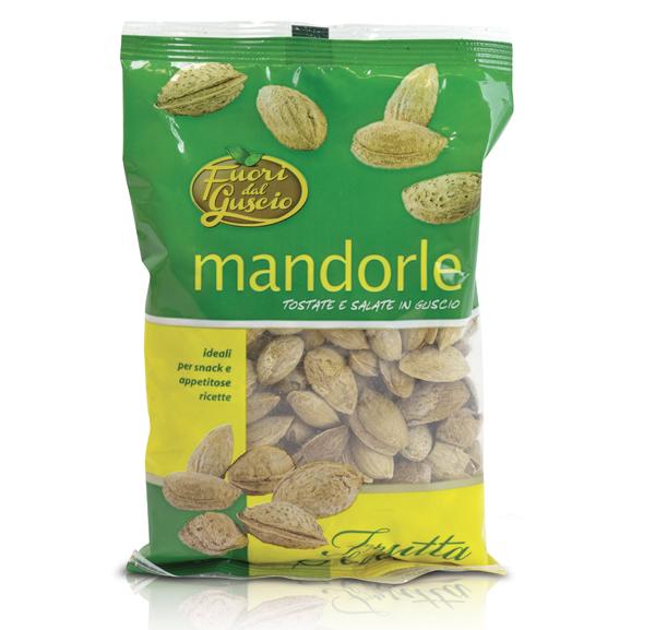 Mandorle in Guscio Tost/salate F. dal Guscio 200 g