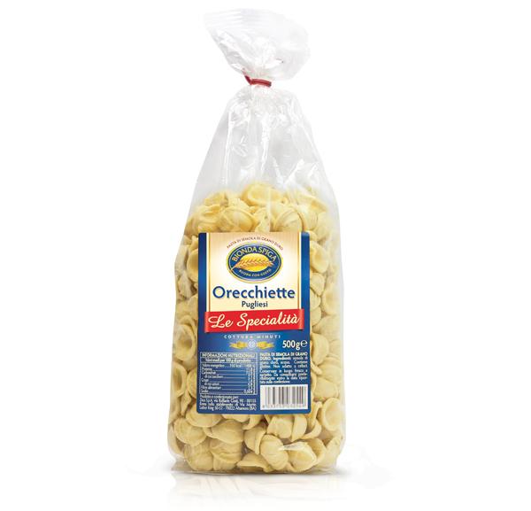 Pasta di Semola Orecchiette Pugl.Bionda Spiga 500g