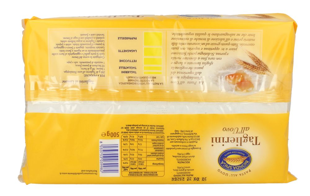 Pasta Secca Uovo Taglierini Bionda Spiga 500 g
