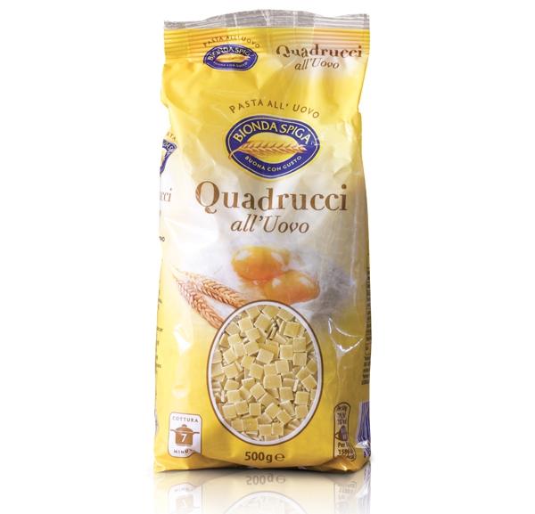Pasta Secca Uovo Quadrucci Bionda Spiga 500 g