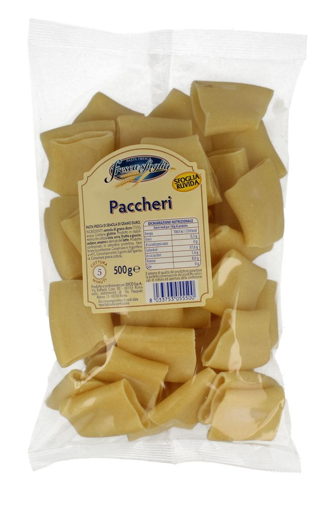 Pasta Fr Semola Paccheri Fresca Sfoglia 500 g