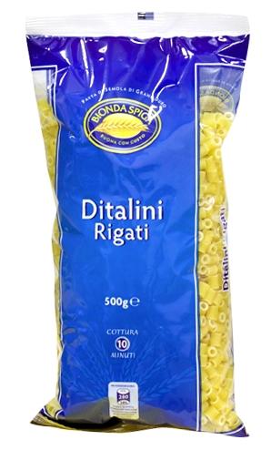 Pasta di Semola Ditalini Rigati Bionda Spiga 500 g