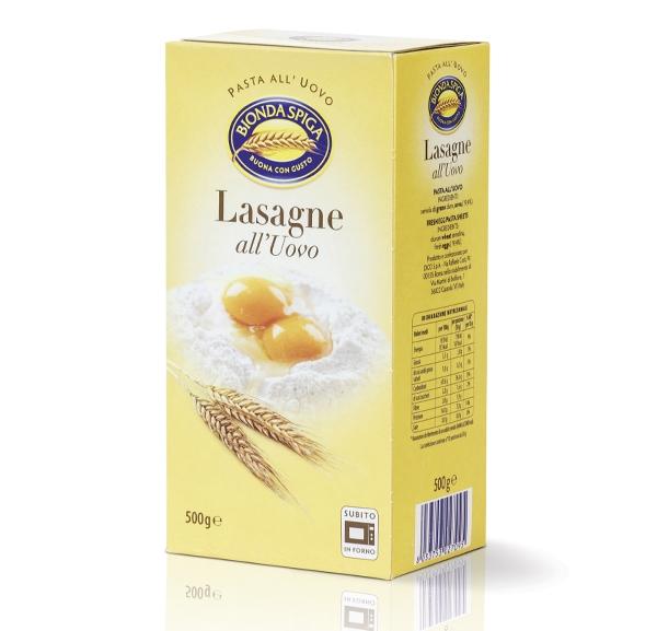 Pasta Secca  Uovo Lasagne Bionda Spiga 500 g