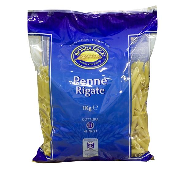 Pasta di Semola Penne Ziti Rigate Bionda Spiga 1kg