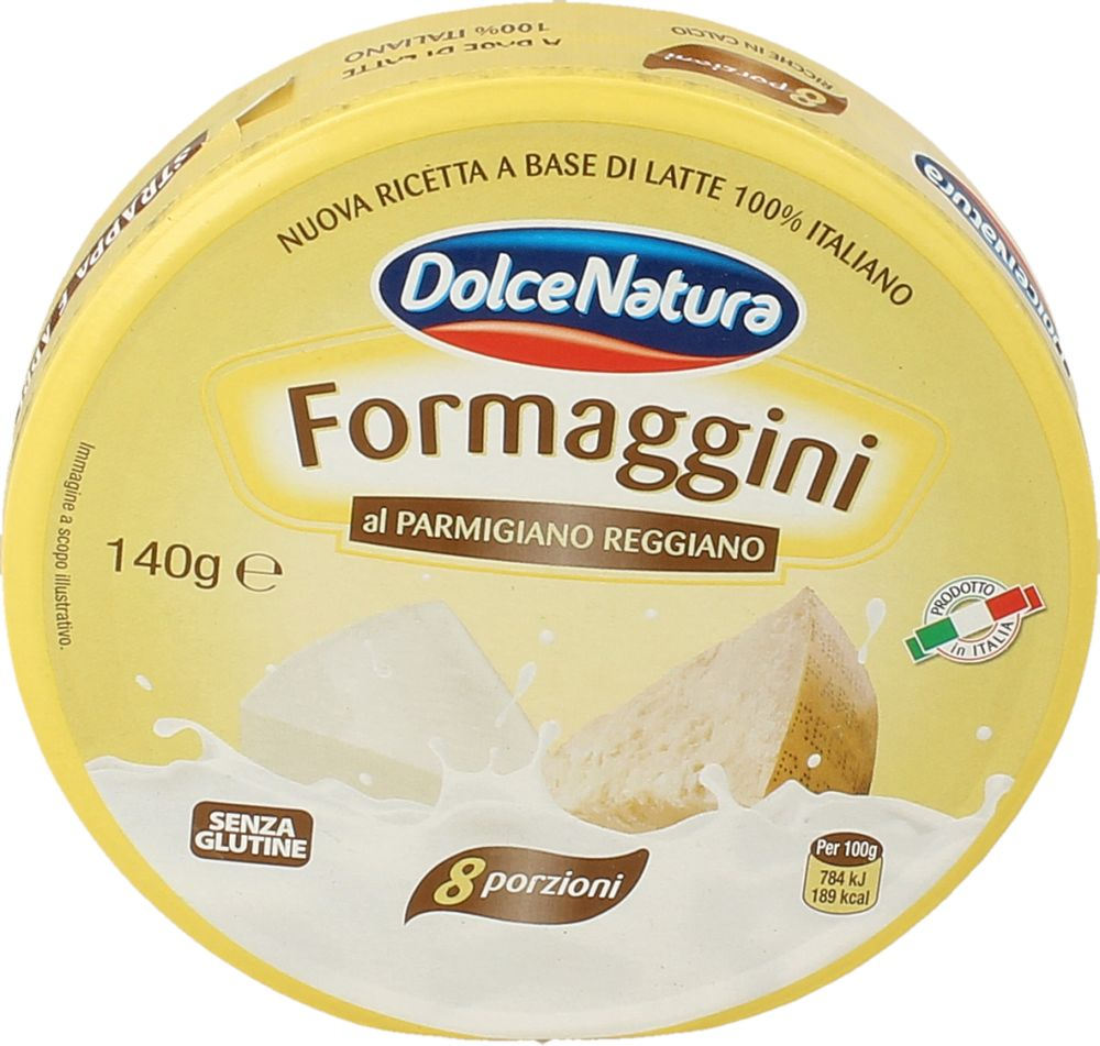 Formaggini Parmigiano Regg. 25% Dolce Natura 140 g