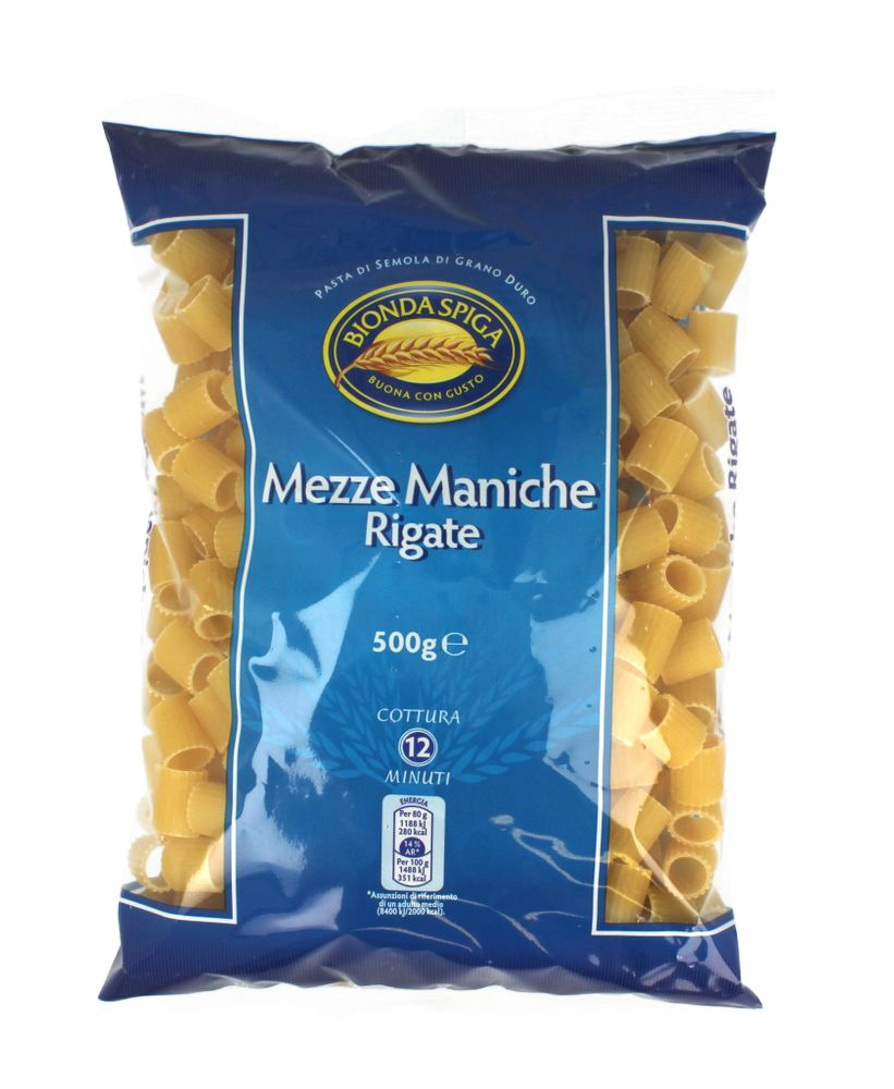 Pasta di Semola Mezze Maniche Rig.Bionda Spiga500g
