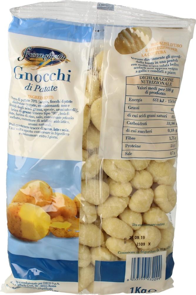 Gnocchi Freschi di Patate Fresca Sfoglia 1 Kg