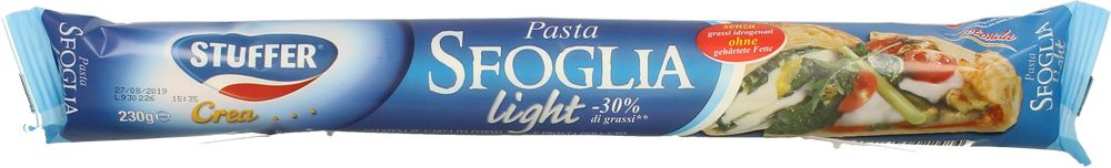 Stuffer Pasta Sfoglia Fresca Light G.230