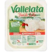 Vallelata Fior di Latte 4 Mozzarelle Fresche 720 g