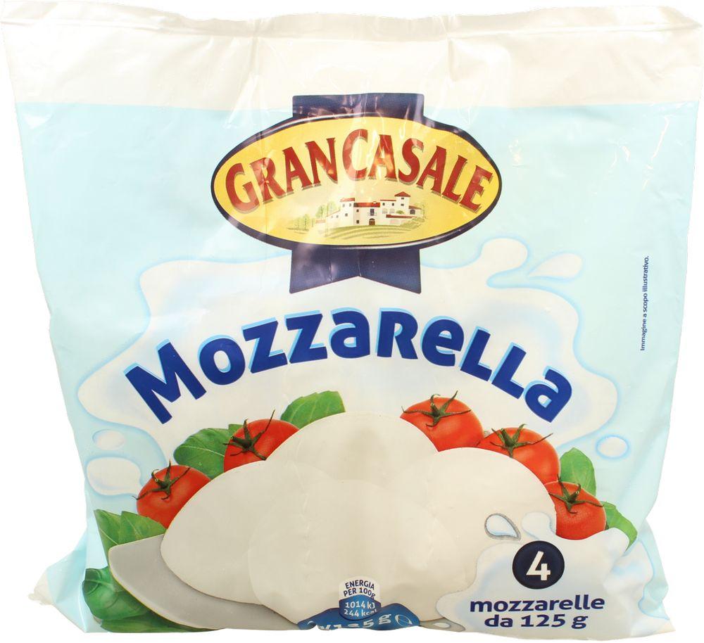 Mozzarella Gran Casale 125 g x 4