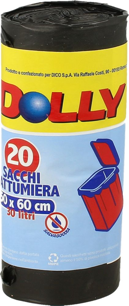 Dolly Sacchi Spazz. Nero 50x60 30l Dolly 20pz