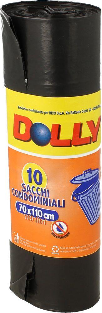 Sacchi Spazz. Nero 70x110 100l Dolly 10pz