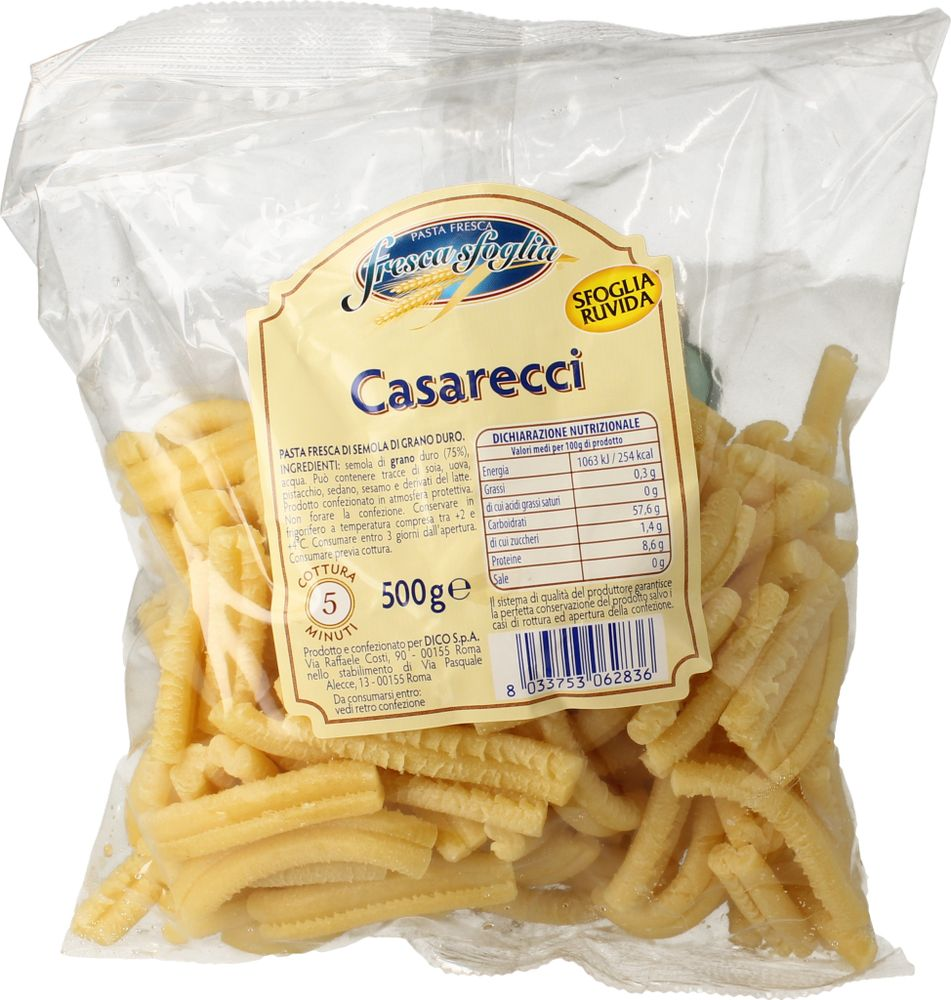 Pasta Fr Semola Casarecci Fresca Sfoglia 500 g