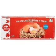 Carrefour Classic Uova Fresche da Galline Allevate a Terra Categoria a Grandi x