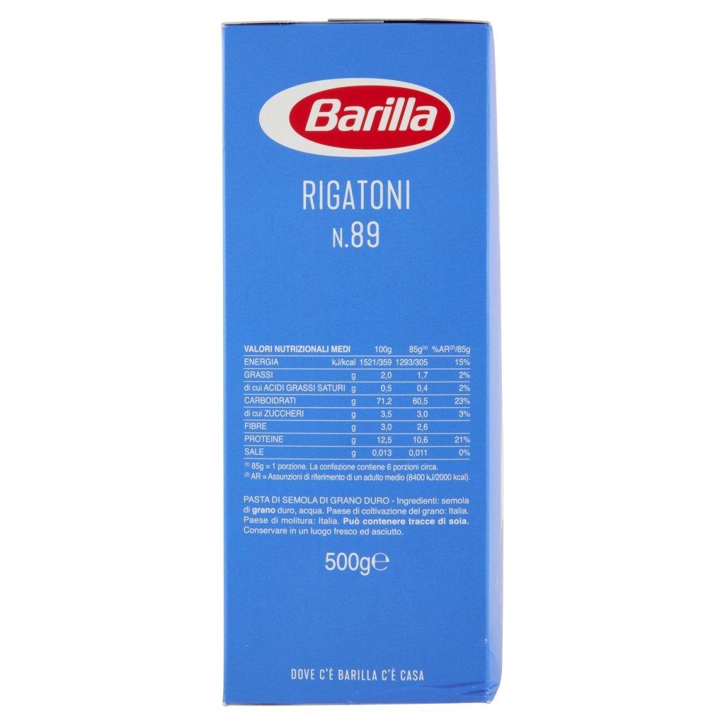 Barilla Rigatoni N.89