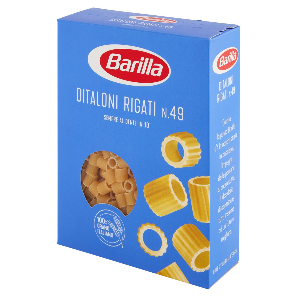 Barilla Ditaloni Rigati N.49