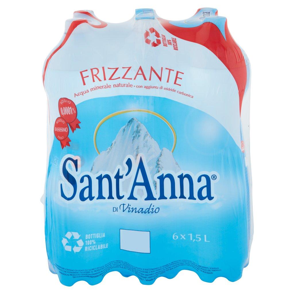 Sant'anna Di Vinadio Frizzante 6 x 1,5 l Imballaggio 6 Bottiglie Da 1,5 L