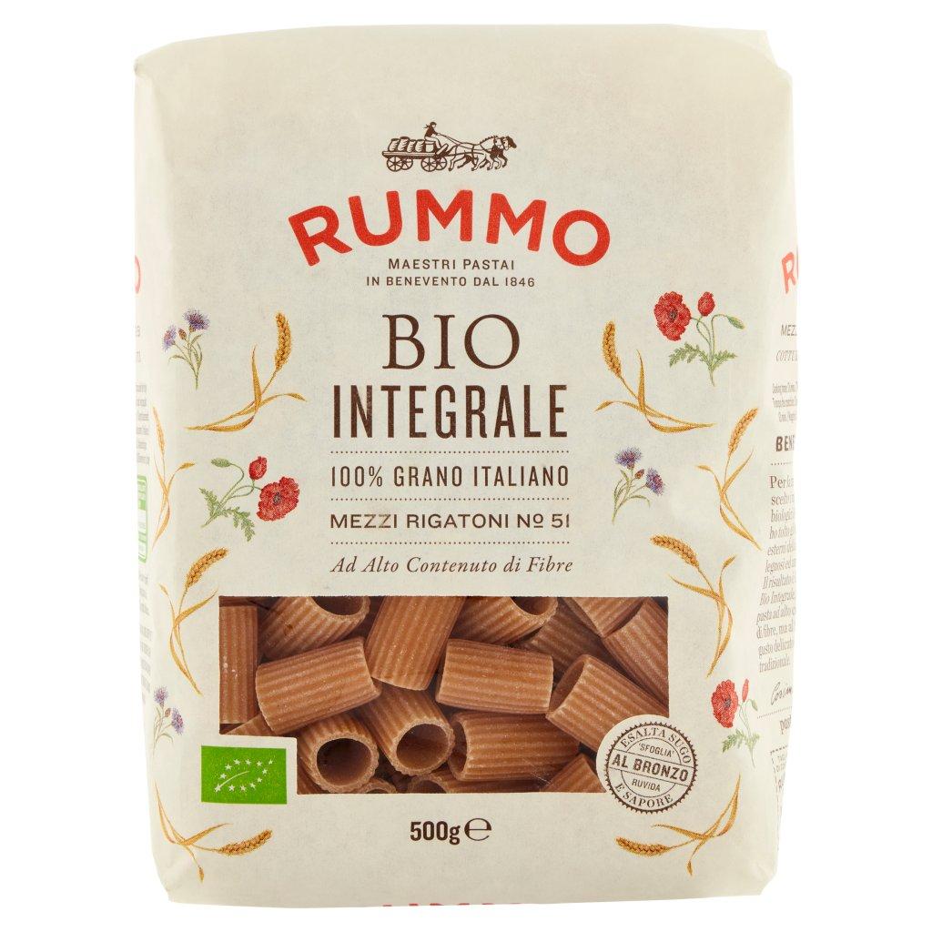 Rummo Bio Integrale Mezzi Rigatoni N° 51