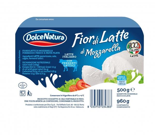Mozzarella Fiordilatte Dolce Natura 500 g (5pz)