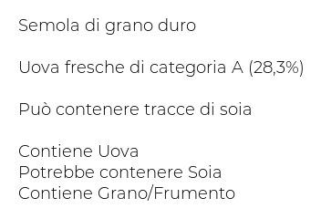 Barilla Emiliane Pasta all'Uovo Taglierini all'Uovo