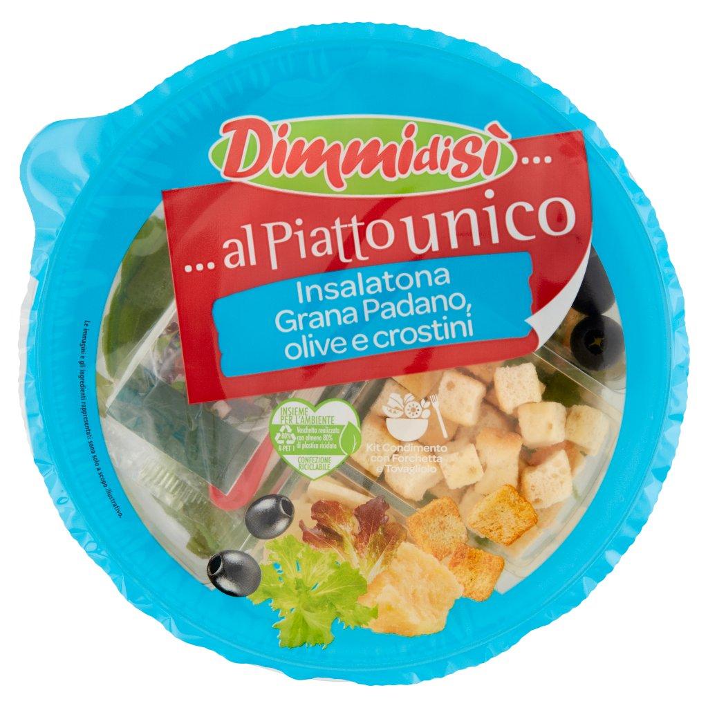 Dimmidisì ... al Piatto Unico Insalatona Grana Padano, Olive e Crostini Confezione 120 G 1