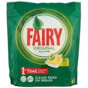 Fairy Original Detersivo in Caps per Lavastoviglie, Confezione da 85 Pastiglie, Limone