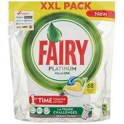 Fairy Platinum Detersivo in Caps per Lavastoviglie, Confezione da 68 Pastiglie, Limone