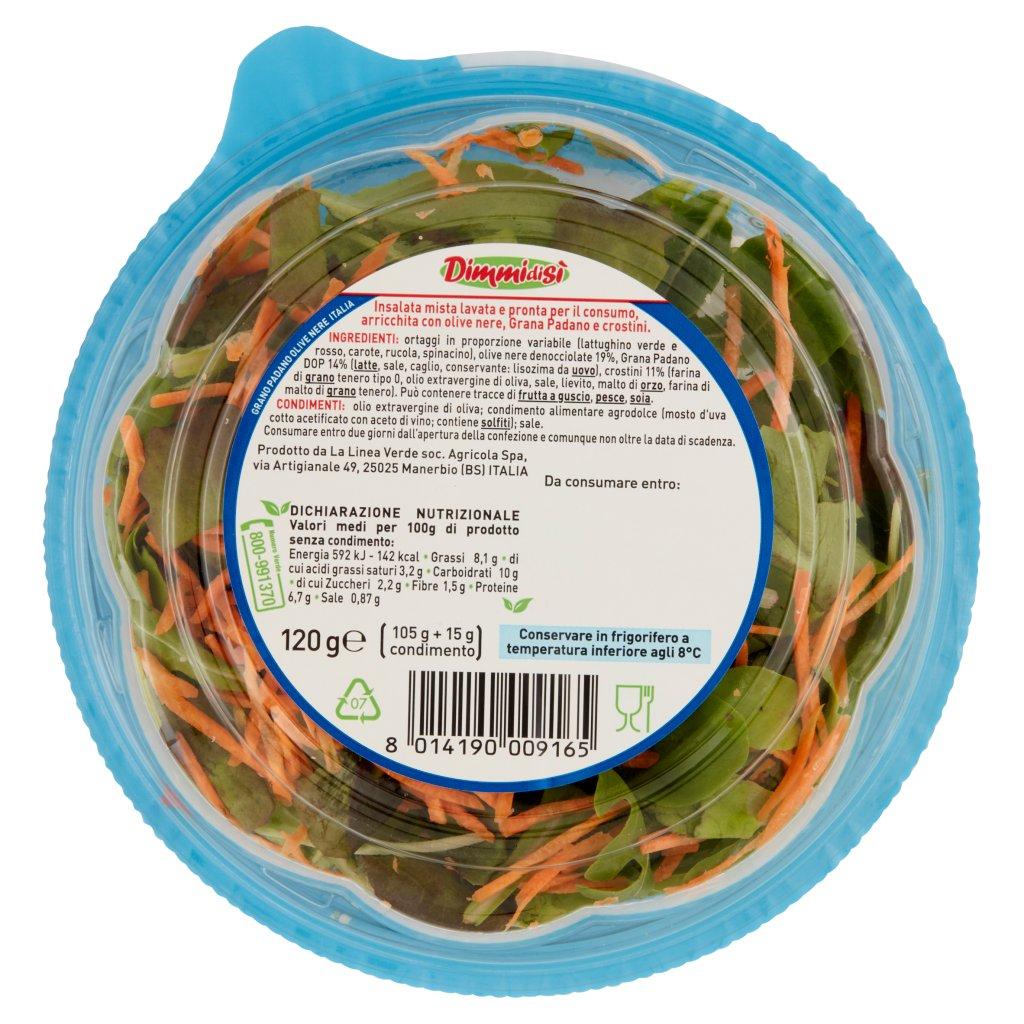 Dimmidisì ... al Piatto Unico Insalatona Grana Padano, Olive e Crostini Confezione 120 G 2