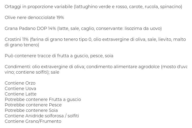Dimmidisì ... al Piatto Unico Insalatona Grana Padano, Olive e Crostini