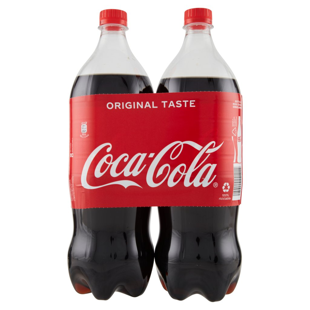 Coca Cola Taste 1,35l x 2 (Pet) Imballaggio 2 Bottiglie Da 1,35 L 2