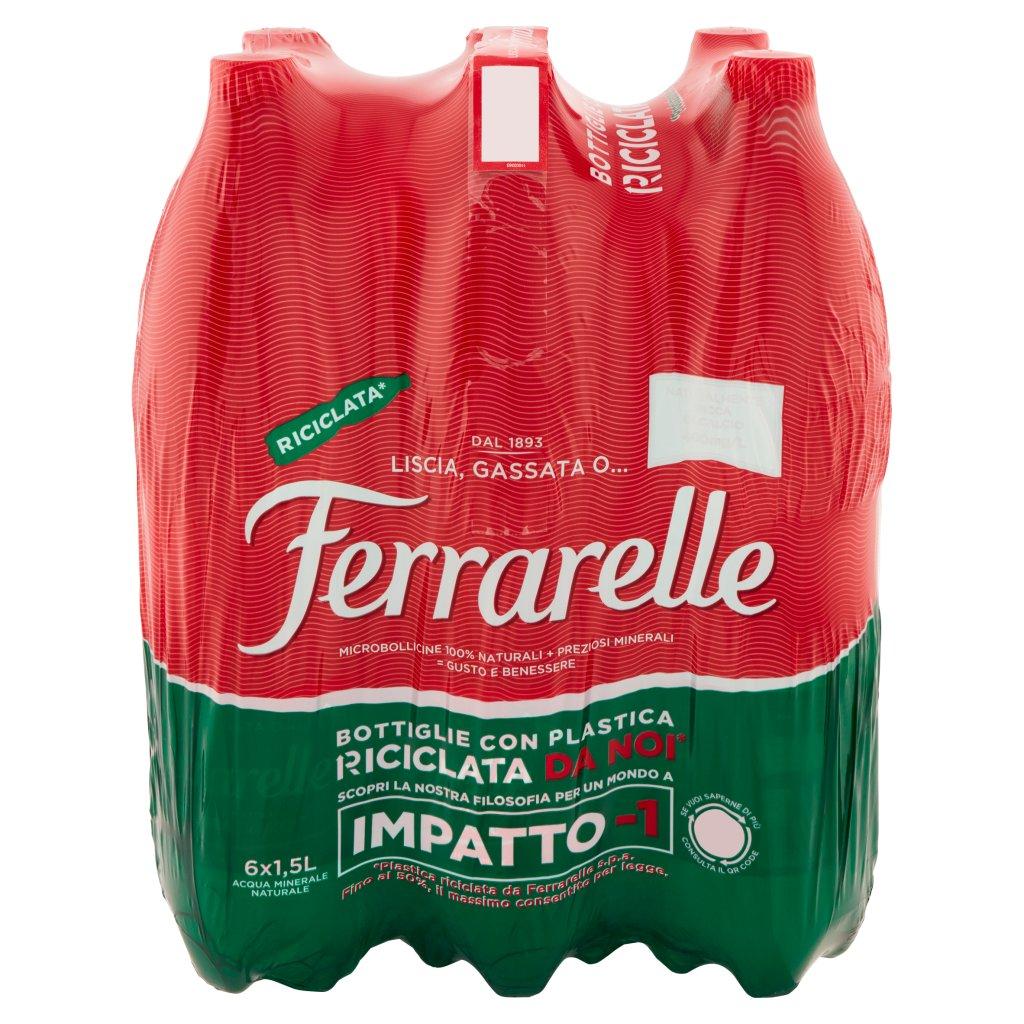 Ferrarelle 6 x 1,5 l Imballaggio 6 Bottiglie Da 1,5 L