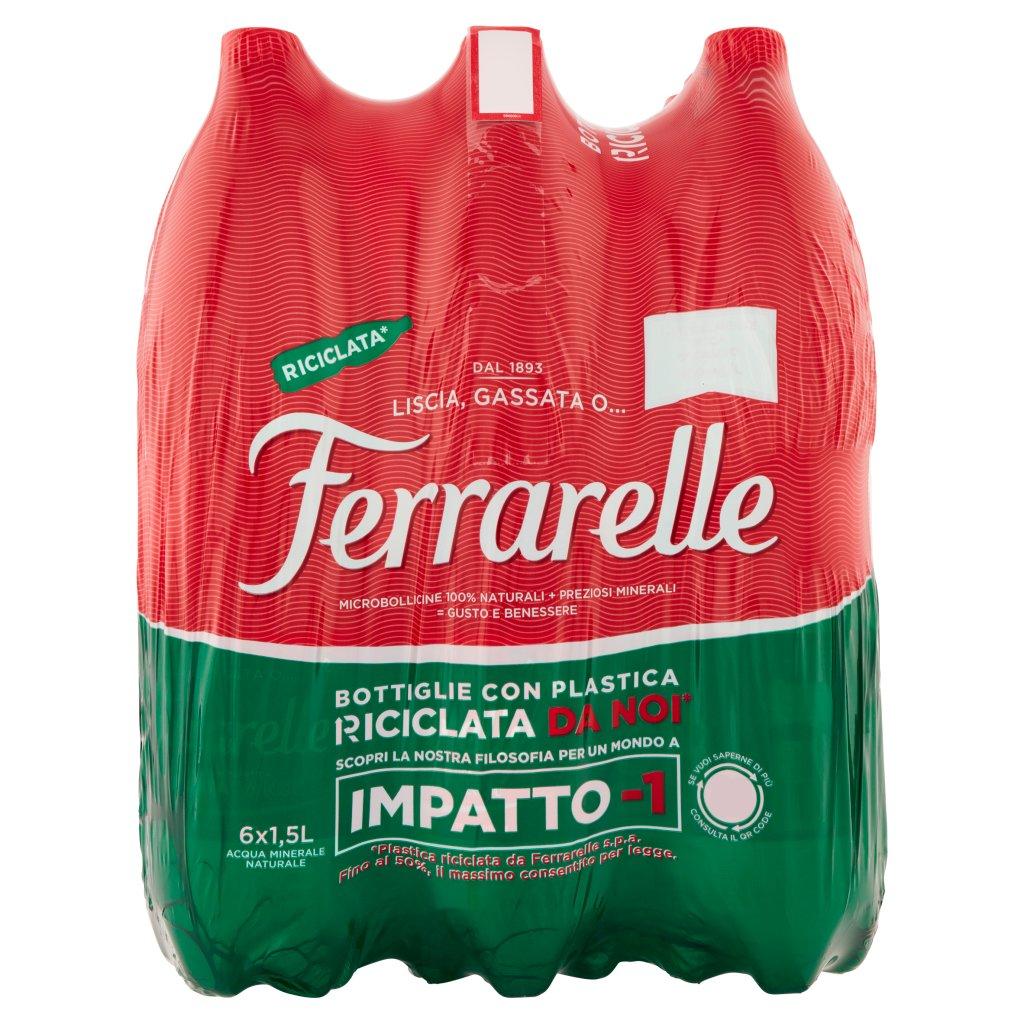 Ferrarelle 6 x 1,5 l Imballaggio 6 Bottiglie Da 1,5 L 1