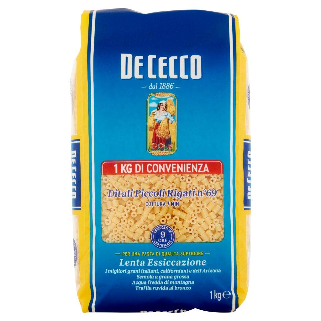 De Cecco Ditali Piccoli Rigati N° 69 500 g