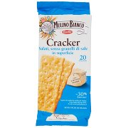 Mulino Bianco Cracker Saiati, senza Granelli di Sale in Superficie