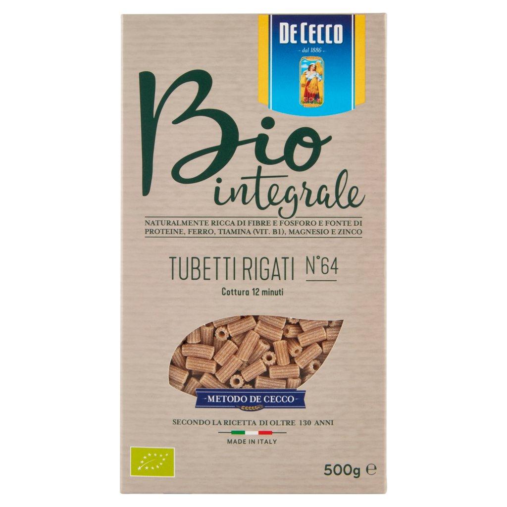 De Cecco Bio Integrale Tubetti Rigati N°64