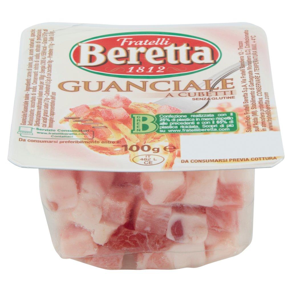 Fratelli Beretta Guanciale a Cubetti Vaschetta 100 G