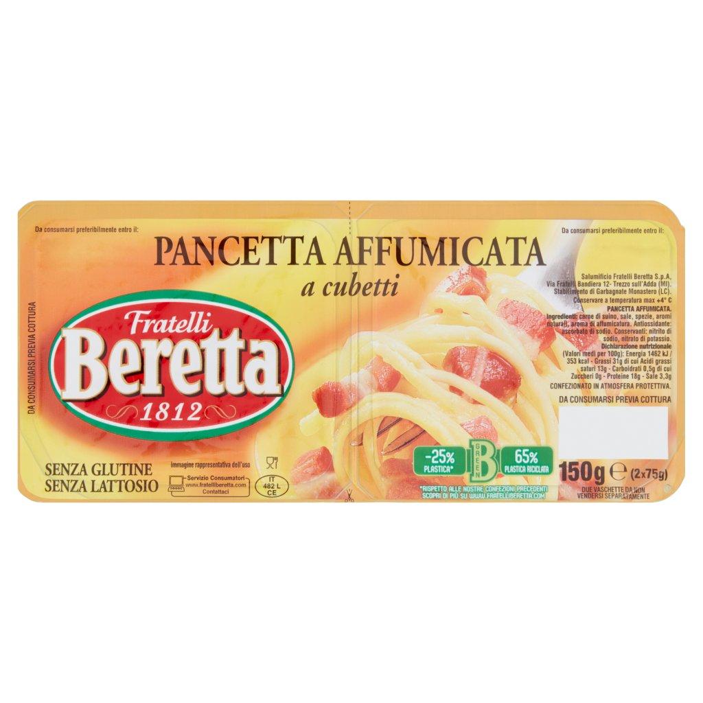 Fratelli Beretta Pancetta Affumicata a Cubetti 2 x 75 g Vaschetta 150 G 1