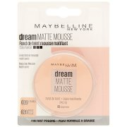 Maybelline New York Fondotinta Dream Mat Mousse, Base Opacizzante in Mousse, 20 Cameo Beige