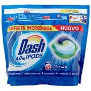 Dash Pods Allin1 Detersivo Lavatrice in Capsule Classico 62 Lavaggi