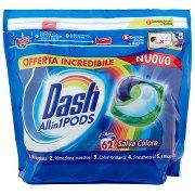 Dash Pods Allin1 Detersivo Lavatrice in Capsule Salva Colore 62 Lavaggi