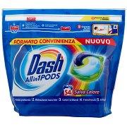 Dash Pods Allin1 Detersivo Lavatrice in Capsule Salva Colore 54 Lavaggi