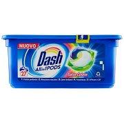 Dash Pods Allin1 Detersivo Lavatrice in Capsule Salva Colore 27 Lavaggi