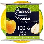 Melinda Mousse 100% Mela e Pera 2 x 100 g