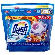 Dash Pods Allin1 Detersivo Lavatrice in Capsule Ambra 62 Lavaggi