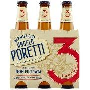 Birrificio Angelo Poretti Birra 3 Luppoli Non Filtrata 3x 33 Cl