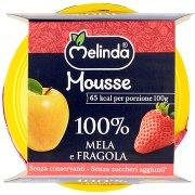 Melinda Mousse 100% Mela e Fragola 2 x 100 g