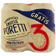 Birrificio Angelo Poretti Birra 3 Luppoli Non Filtrata 4x 33 Cl